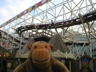 With Blackpool pleasure beach wild mouse think